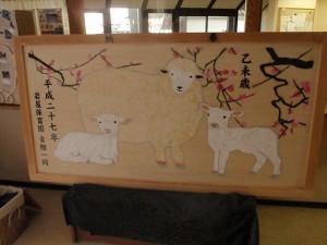 あおぐみが作った絵馬です。一年間神社に奉納されます。