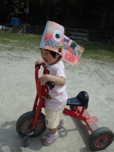 「三輪車大好き!」