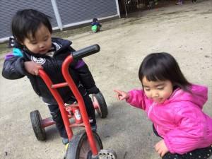 みんな三輪車が大好き!!